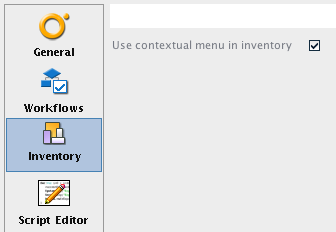 Set use contextual menu